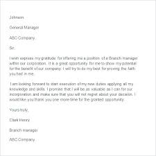 Letter Of Gratitude To Boss Job Promotion Thank You Letter Appreciation Note For Manager Sample