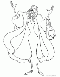 Small Picture Cruella Deville Coloring Pages Downloads Online Coloring Page 4125