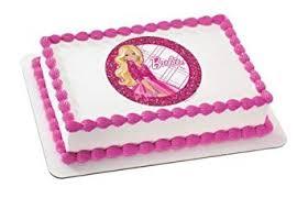 Amazoncom 2 Round Barbie All Dolled Up Birthday Edible Image