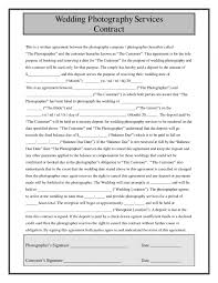 Wedding Photography Contract Template Discover What You Should Include In Your Professional Wedding Simple 1