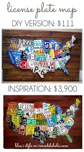 license plate map wall art on license plate map wall art with license plate map wall art remodelaholic bloglovin