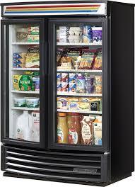 true gdm 35sl rf hc ld 40 2 swing glass door merchandiser refrigerator radius front slim line