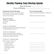 Sample Student Agenda School Meeting Example Template Communication ...