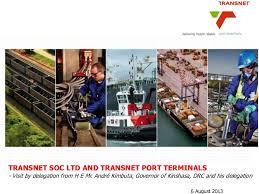 Civil engineering (eastern cape technikon). Drc Delegation Visit Transnet Port Terminals