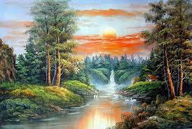 freehand 18 bob ross landscape oil paintings