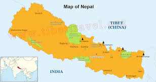 where is nepal located on map nepal map in asia and world