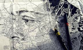 Ed Fairburn Creates Elaborate Portraits By Shading Maps And