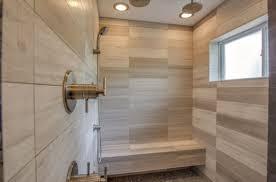Custom Limestone / Sand stone Minimalist Modern Walk in Shower in Westlake  Tx / Austin Tx