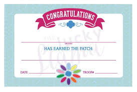 Certificates Printable Daisy Girl Scouts Petal Fill In Certificates Printable Instant Download