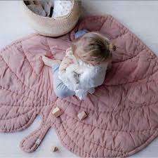 Lovely Leaf Shape Quilted Play Mats Baby Blanket Carpet Rug Nordic ... & Lovely Leaf Shape Quilted Play Mats Baby Blanket Carpet Rug Nordic Kids  Room Decoration Bed Decor Adamdwight.com