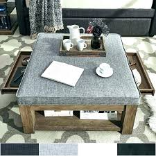 rustic ottoman tray cocktail round top large coffee table with