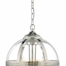 vanessa polished nickel and clear 3 light pendant van0338 van0338 1 van0338 2