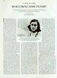 who owns anne frank    the new yorkerwho owns anne frank