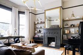 glossy black fireplace huge accent mirror