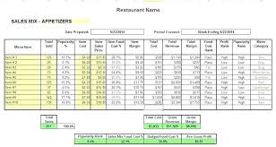 Menu Spreadsheet Template Download Menu Recipe Cost Spreadsheet Template Free Restaurant Excel