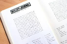 The Bullet Journal Word Search Tiny Ray Of Sunshine