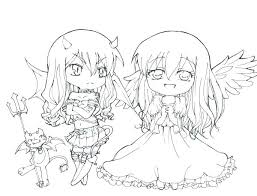 Anime Printable Coloring Pages Chibi Fairy Tale Colouring Pdf Emo