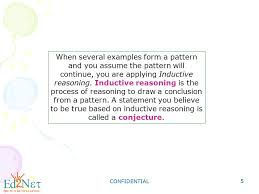 Geometry Using Inductive reasoning to Make Conjectures - ppt download