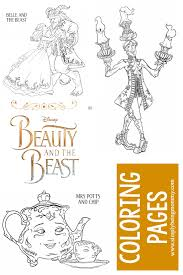 Small Picture Beauty and The Beast Coloring Pages Simply Being Mommy