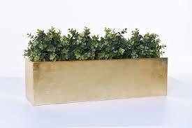 Blumenkasten Pflanzkasten Fiberglas Flobo Gold Hochglanz