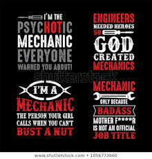 Mechanic Quotes Mesmerizing Mechanic Saying Quotes 48 Vector Ready Stock Vector Royalty Free