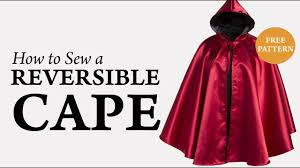 Cloak Sewing Pattern Classy How To Sew A Reversible Cape Tutorial YouTube