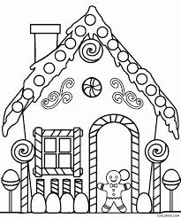 Small Picture Printable Gingerbread House Coloring Pages Coloring Home