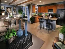 small open plan kitchen living room