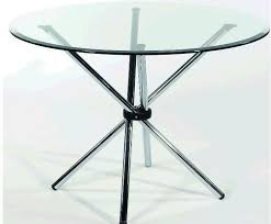 transpa metal discussion glass table size 3 3ft