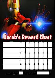 Personalised Iron Man Reward Chart Adding Photo Option Available