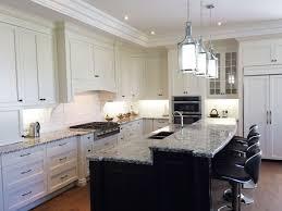 dark kitchen white island off white kitchen cabinets with dark island