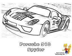 Small Picture Gusto Car Coloring Pages Porsche Corvette Free Coloring Cars