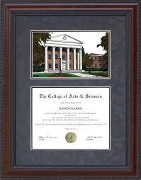 diploma frame university of mississippi ole miss lithograph  diploma frame university of mississippi ole miss lithograph