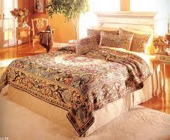 william morris classic design tapestry bedspread