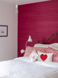 Cross Decor And Design Hot Pink Grasscloth Wallpaper Eclectic Bedroom The Cross Decor 96