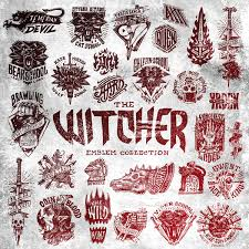 The Witcher Emblem Collection Its A Graphic Set Of Handmade Images