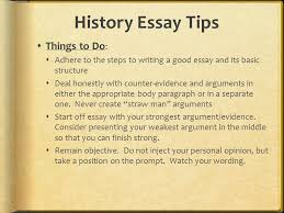 do the things that will earn you high marks college board 16 history essay tips