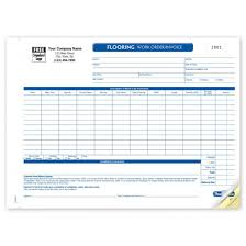 Custom Flooring Work Order Forms Con0268 At Print Ez