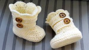 Crochet Baby Booties Pattern 3 6 Months Beauteous Crochet Baby Booties 4848 Months Idea YouTube
