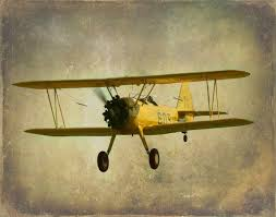 antique airplane plane art print baby