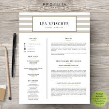 Modern Resume Cover Letter Template Editable Word Format 16 With