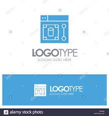 Azure Design Tool Web Design Designer Tool Blue Solid Logo With Place For