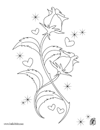 Small Picture Rose Coloring pages Reading Learning Drawing for Kids
