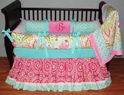 charming baby nursery room design using paisley baby girl bedding minimalist design for baby nursery