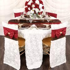 wedding rosette satin 120 round tablecloth white