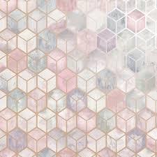 3D Effect Honeycomb Pink Wallpaper ...