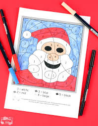 Click a picture below for the printable christmas coloring page: Christmas Color By Numbers Worksheets Itsybitsyfun Com