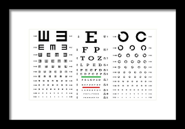Eye Sight Chart Eye Test Chart Vector Vision Exam Optometrist Check Medical Eye Diagnostic Different Types Sight Eyesight Optical Examination Isolated On