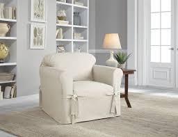 Serta Cotton Duck Box Cushion Armchair Slipcover Reviews Wayfair