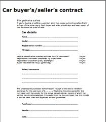 As Is Document For Car Sale Car Sale Contract Template Free Sample Templates